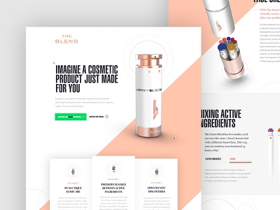 The Smart Blend - Single Page design dogstudio lines diagonal white one-page scroll product layout website webdesign