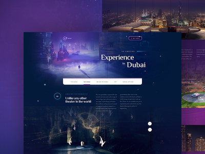 La Perle - Venue scroll menu motion video dragone emea dubai show layout website