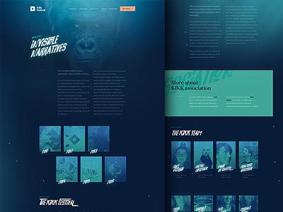Kikk Festival 2017 - About Page webgl studio agency product layout dogstudio belgium free design webdesign festival kikk