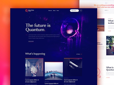 Quantum Technologies - Homepage quantic science quantum installation physics design dogstudio science layout webdesign