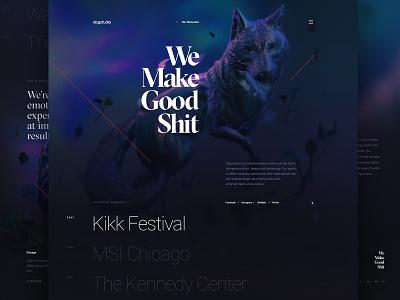 Dogstudio - Homepage illustration agency portfolio dogstudio webgl 3d dog illustration website webdesign