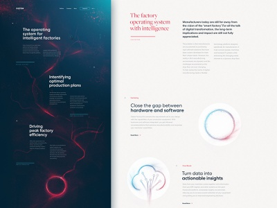 Oqton - Homepage illustration product webdesign design ai startup dogstudio