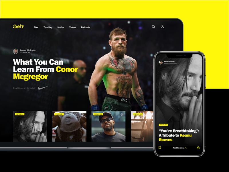 :Betr - A positive community for GenZ webdesigner product web design digital genz sport webdesign