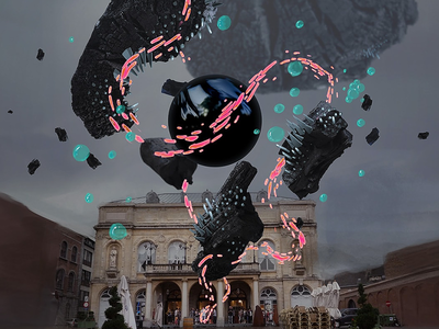 KIKK AR Art Exhibit particles kikk dogstudio festival art abstract video prototype three.js 3d illustration design ar augmented reality