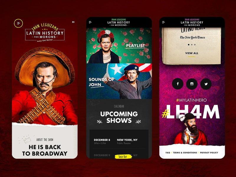 Latin History For Morons - Homepage & Motion animation motion ux ui layout design mobile webdesign