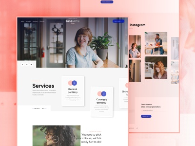 Band & Wire - Homepage branding design website ui product white layout webdesign