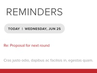 Reminders List