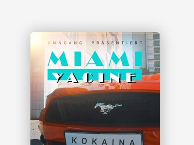 Miami Yacine - Kokaina Cover design cover art deutschrap artist musik music kmngang design cover coverdesign miami yacine