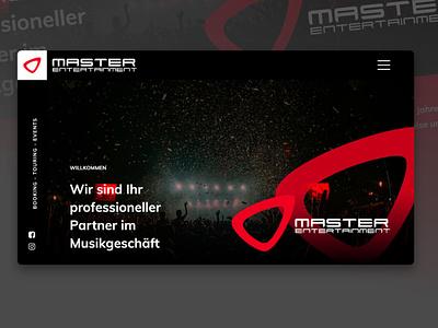Master Entertainment - Website design & code musik webdesigner agency agentur booking music cms code design website webdesign contao