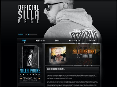 SILLA INSTINKT Webseite - 2012 musiker künstler artist code website concept rapper deutschrap website design südberlin maskulin berlin silla webdesign web wordpress website