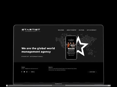 Startist International - Webdesign & code song artist musik simple black clean css html contao wordpress design website webdesign
