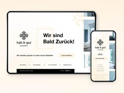 Hab & Gut Immobilien - prepage design & code responsive gold yellow immo webdesign website immobilien countdown offline prepage