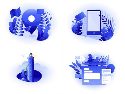 2018 year in review best illustration 2018 vector illustration illustration