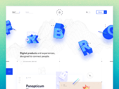 FRBRG — Case Study web ux ui parallax stuff detail light clean illustration