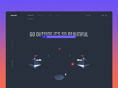 Skilmar — Homepage Concept blue design typography ux dark clean ui illustration web
