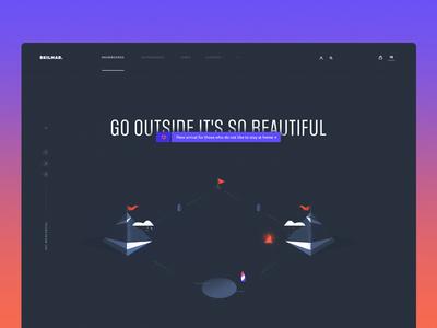 Skilmar — Homepage Concept blue design typography ux dark clean ui illustration web