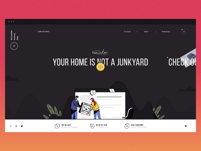 NAFS — Homepage colorful color ux website illustrative design dark ui web illustration