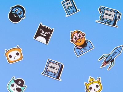 Kryptex — stickers illustration vector stickers