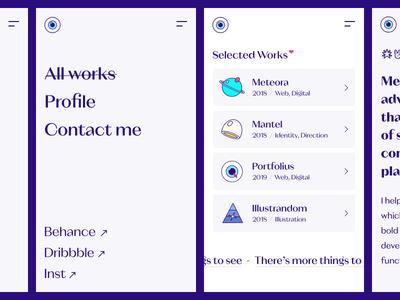 igma.im — mobiles 📱 mobile ui mobile design mobile dark website blue design ui clean illustration web