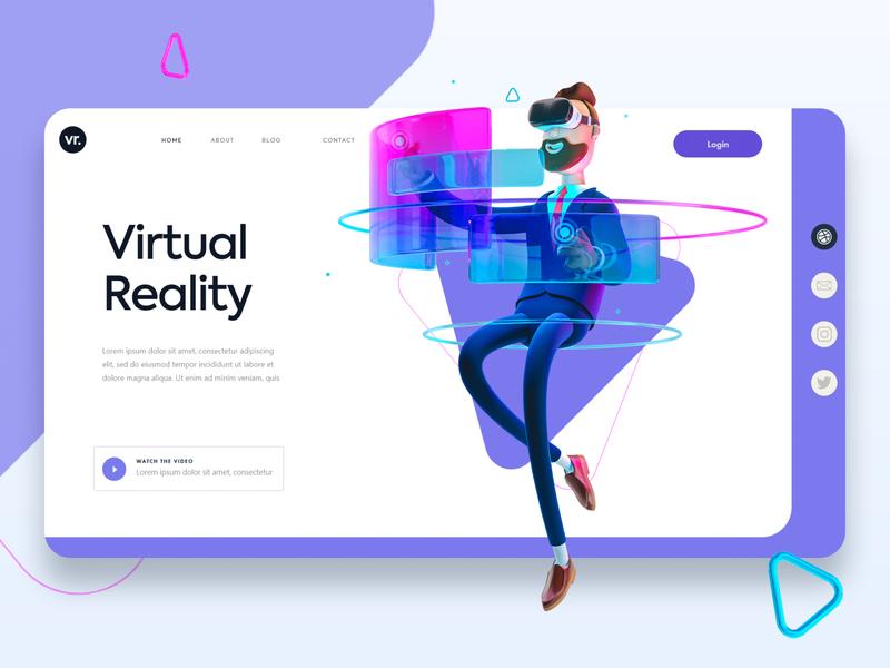 Virtual Reality Website website responsive design website design uxdesign uidesign
