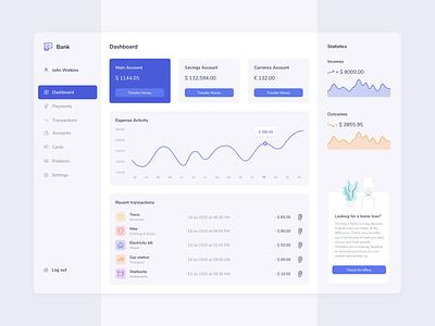 Online Banking Dashboard concept design web ui ux chart dashboad fintech banking app banking bank app bank finance app finance