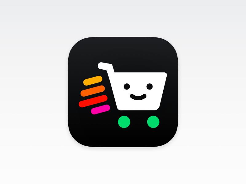 Shoppler – iOS Icon Design shopping cart green shop logo vector ios icons design branding realistic osx icon iphone icon ios icon ios app store app icon app