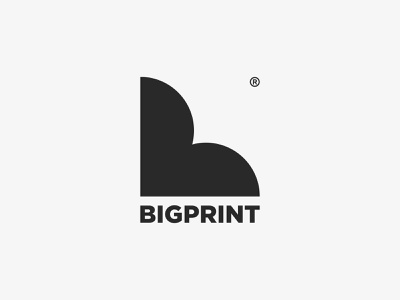 BIGPRINT print brand branding logo mark label design logotype logodesign logo