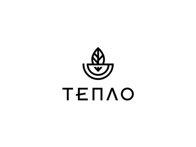 Тепло Tea Shop logo mark label design logotype logodesign logo