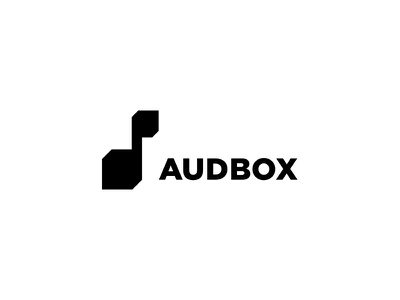 Audbox music service music logo mark label design logotype logodesign logo
