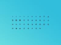 Web Icons line 16px website ui web design iconography icons