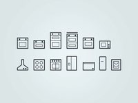 Kitchen Appliance Icons - WIP wip ecommerce website ui web design iconography icons