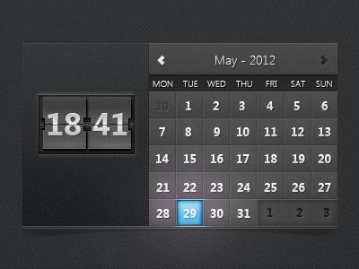Date and Time Calendar date time calendar ui user interface clock ux silverlight xaml