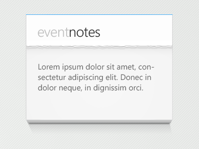 Event Notes event notes pages
