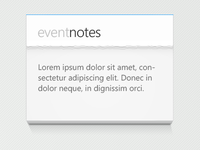 Event Notes
