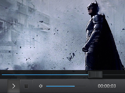 Simple Player simple player video player ui ux batman