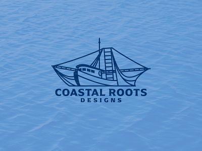 Shrimp Boat logo gulf coast coastal marina ocean linework lifestyle brand fishing shrimp boat ship logo ship boat branding design tshirt icon logo icon logo
