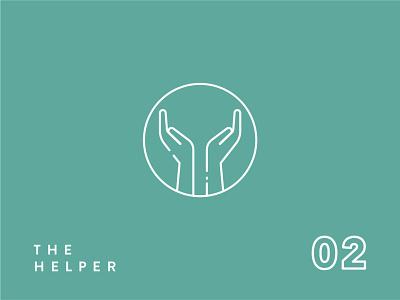 Enneagram Icon Series//Type 2 aid test personality give helper hands help type 2 logo icon logo icon set icon design icon enneagram