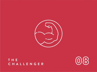 Enneagram Icon Series//Type 8 fist muscle arms arm challenge challenger strong 8 type 8 logo type personality logo icon icon set icon design icon enneagram