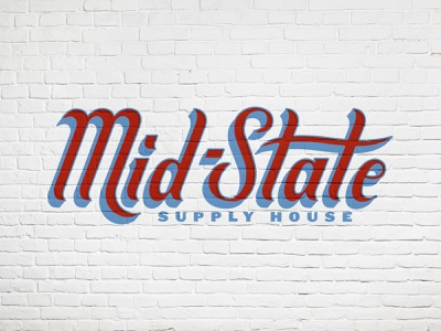 Mid-State Supply House design logo typography state midstate american brick supply house house supply branding sign painting industrial type art type lettering handlettering retro