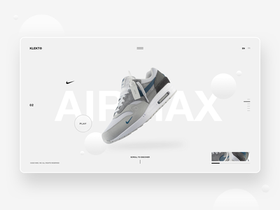 Nike AirMax - Web Concept fresh minimalist modern minimal website streetwear graphic ui design user interface freelance contemporary design ui nike air nike air max nike