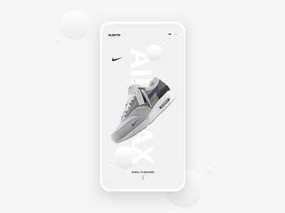 Nike AirMax - App Concept app fresh concept modern designer streetwear minimal ui design user interface freelance contemporary design ui nike air nike air max nike