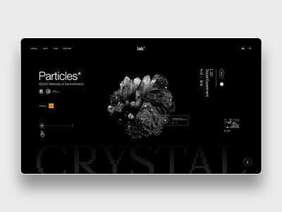 Particles* UI minimalist website design sketch adobe tech wear lab minimal website streetwear designer concept graphic ui design user interface freelance design contemporary ui