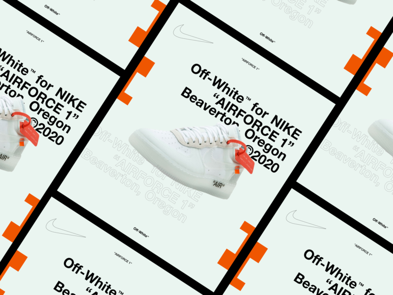 """Off-White™ x NIKE """"AIRFORCE 1"""""""