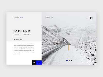 Discover Iceland - UI Concept