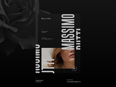 Blvck Massimo Dutti / Lookbook graphic modern contemporary massimo dutti fashion split concept web brand design typography black print