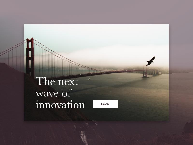 The Next Wave stories blog app startup landing clap web mobile card cards