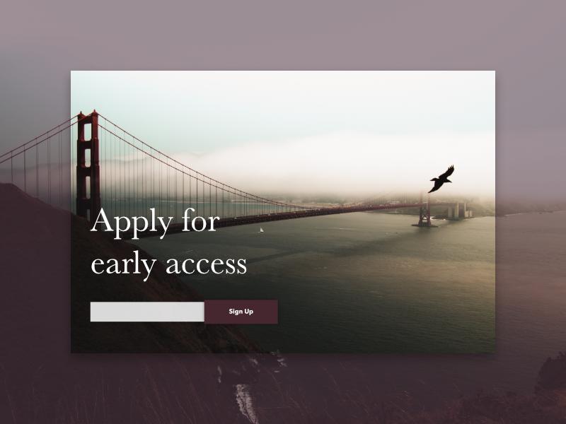 Landing Sign Up register login app startup landing spa web mobile card cards