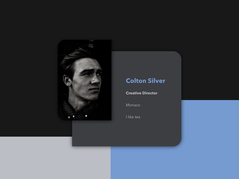 Meat Card dark mode dark design minimal card app mobile