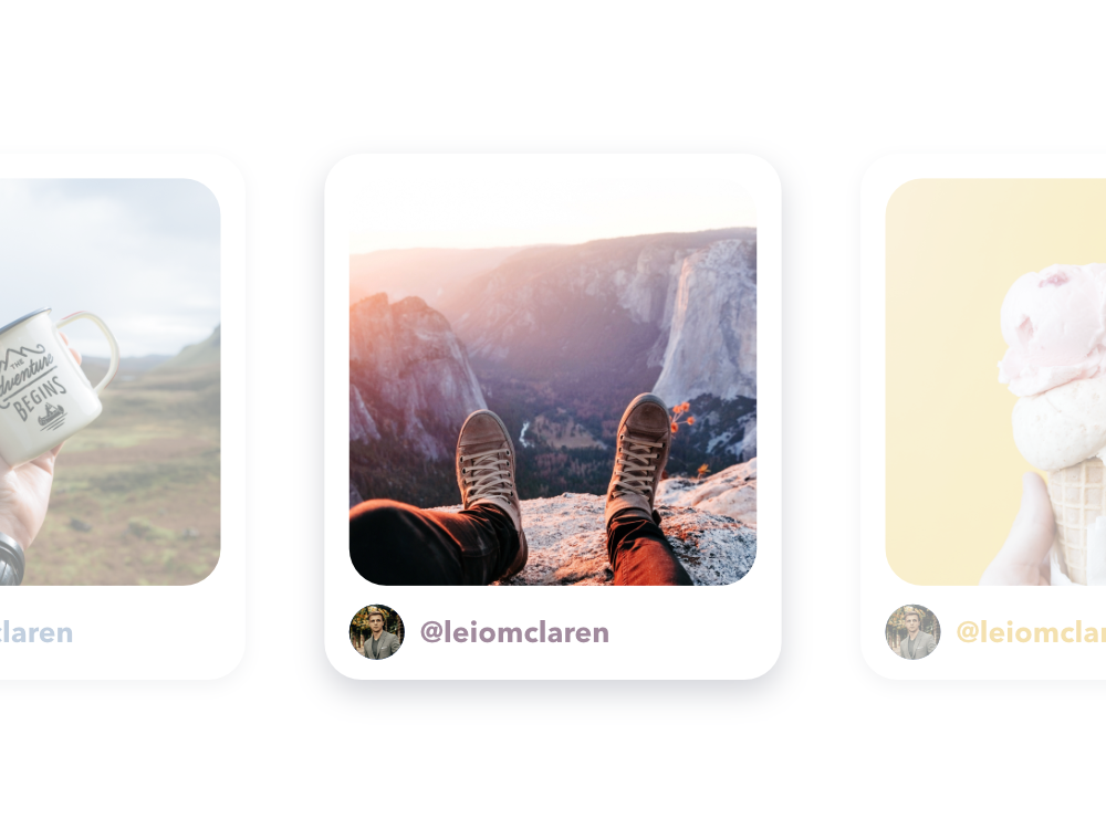 Post cards unsplash tumblr instagram instagram post light mode app minimal design card mobile