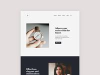 Minimal product site